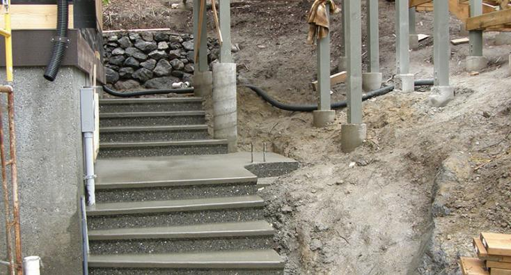 Exposed Foundation With Decorative Stairs Scc